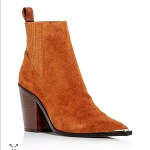 Kenneth Cole suede booties heeled booties